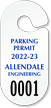 Create Own Racetrack Parking Permit Hang Tag