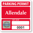 Custom Tamper-Evident Hologram Permit Parking Decals