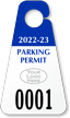 Custom Triangle Parking Permit Hang Tag with Logo