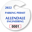 Custom Circle Parking Permit Hang Tag