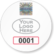 Custom Circular Tamper-Evident Hologram Permit Decals with Logo