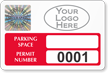Create Tamper-Evident Hologram Parking Permit Decals with Logo