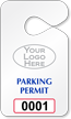 Create Pre-Printed Numbered Logo Parking Permit Hang Tag
