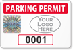Create Tamper-Evident Hologram Logo Numbered Permit Parking Decals