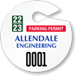 Design Own Circular Parking Permit Hang Tag