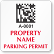 Custom Parking Permit Decal With 2D Barcode