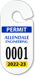 Customizable Racetrack Parking Permit Hang Tag