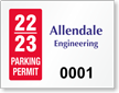 Custom ForgeGuard Tamper Evident Security Parking Permit Insert