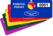 Custom Plastic Horizontal Parking Permit Hang Tag