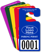 Custom Plastic Jumbo Parking Permit Hang Tag
