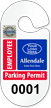 Custom Racetrack Employee Parking Permit Hang Tag