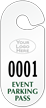 Custom Large Racetrack Event Parking Pass Hang Tag