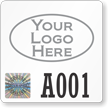 Tamper-Evident Hologram Permit Decals with Custom Logo