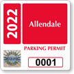 Create Tamper-Evident SecuraPass Hologram Permit Parking Decals