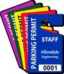 Custom Staff Parking Permit Hang Tag