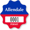 Customizable Burst Parking Permit Decal
