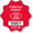Customizable Burst Parking Permit Decal With Logo