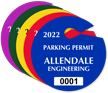 Customizable Circle Parking Permit Hang Tag