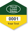 Customizable Hexagon Parking Permit Bumper Sticker