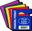 Customizable Logo Parking Permit Mini Hang Tag