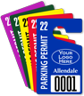 Customizable Parking Permit Hang Tag