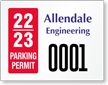 Create ForgeGuard Tamper Evident Parking Permit Security Insert
