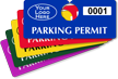Customizable Plastic Horizontal Parking Permit Hang Tag