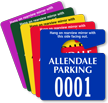 Customized Plastic Parking Permit Mini Hang Tag