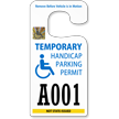 Handicap Parking Permit Rearview Mirror Jumbo Hang Tag