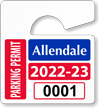 Plastic ToughTags™ Parking Permit Mini Template