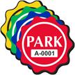 Park Wavy Circle Shaped Sticker