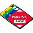 Parking Diamond Shaped Sticker