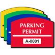 Parking Permit Arch Shaped Sticker