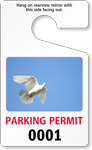 Parking Permit Standard Rearview Mirror PhotoTag