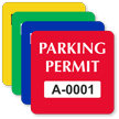 Parking Permit Square Shaped Sticker