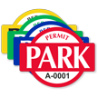 Permit Park Banner Shaped Sticker