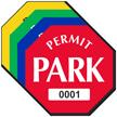 Permit Park Octagon Shaped Sticker