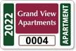 Apartment Window Decal 2 in. x 3 in.