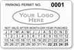 Parking Labels - Design LL13