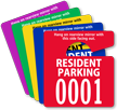 Resident Parking Permit Mirror Hang Tag, Small Size