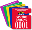 Visitor Parking Permit Mirror Hang Tag, Small Size