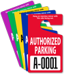 Authorized Parking Permit Mirror Hang Tag