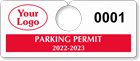 Plastic ToughTags™ Parking Permit Templates