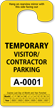 Visitor/Contractor Parking Permit Rearview Mirror Jumbo Hang Tag