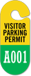 Visitor Parking Permit Hang Tag, Sequentially Numbered