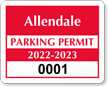 Parking Labels - Design CD1