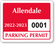 Parking Labels - Design CD2