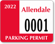 Parking Labels - Design CD4