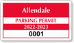 Parking Labels - Design CD7