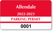Parking Labels - Design CD11
